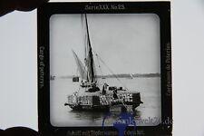 original Foto auf Glasplatte Schiff mit Töpferwaren auf dem Nil um 1900
