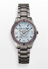 NWT Marc Ecko RARE Woman's Watch Black With Purple Stones E8m104mv