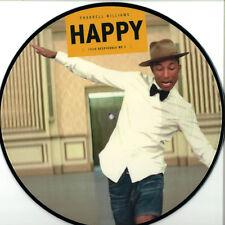 Pharrell Williams Happy Vinyl LP Picture Disc Single Despicable Me 2 Remix NEW