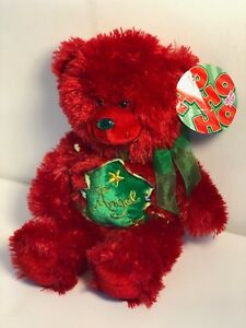 """Red Christmas Teddy Bear """"Angel"""" New With Tag"""