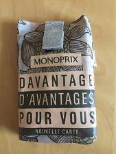 MONOPRIX French Grocery shopping bag, Beige & Flower