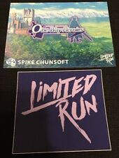 Mystery Chronicle One Way Heroics Limited Run Games Post Card + Sticker - Rare