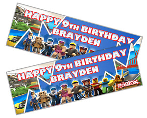 2 x Personalised ROBLOX Birthday/Celebration/Party Banner ANY NAME, ANY AGE