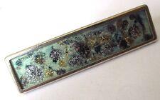 pince billet cravate accessoire vintage couleur argent décor bleu vert 598
