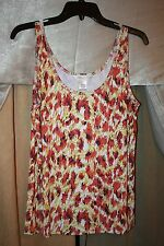 Womens Size XL Stretch Tank Top Geometric Orange Pattern by Jullian Nicole NEW