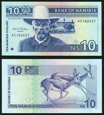 Namibia 10$ 1993 Captain H. Wittbooi & Springbooks P1 Signature 1 UNC