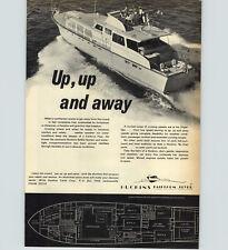 1970 PAPER AD 65' Huckins Fairform Flyer Yacht Offshre Revel Craft Motor Boat