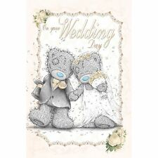 Me to You On Your Wedding Day Bride & Groom Congrats Card - Tatty Teddy
