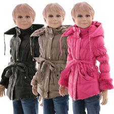 Markenlose Winter-Mädchen-Jacken, - Mäntel & -Schneeanzüge mit Kapuze