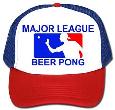 MAJOR LEAGUE BEER PONG Trucker HAT Vintage Sexy Adult Halloween Costume cosplay
