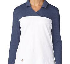 Adidas Women Hybrid Long Sleeve Polo (S) White AE8986