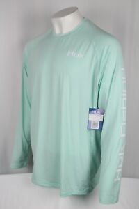 Huk Fishing Men's Marlin Pursuit Long Sleeve Shirt 2XL Seafoam