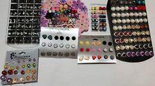 Wholesale Lot Stud Earrings Crystal Pearls Rhinestone Flowers Hearts 135~ Pairs