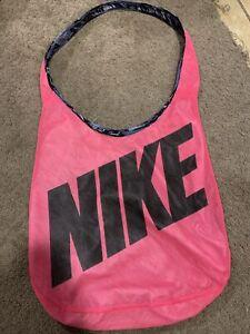 Nike Reversible Gym/yoga Shoulder Bag 17x17 Nice Super Lightweight Pink Gray