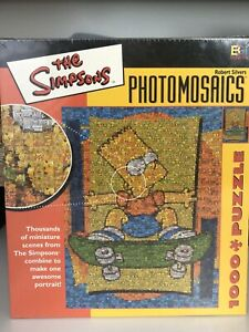 "The Simpsons Bart 1026 Piece Photomosaic Jigsaw Puzzle 27"" X 20"" NEW SEALED"