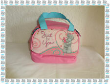 "Petit Sac Goûter Isotherme Rose ""Just For You "" 2 Compartiments Me to you Neuf"