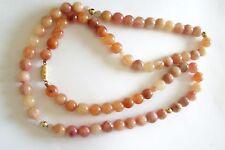 Beautiful Vintage Orange Jade Necklace