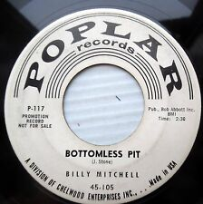 BILLY MITCHELL soul PROMO 45 BOTTOMLESS PIT / ROCK & ROLL TANGO strong VG+ F1235