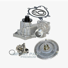 Water Pump Fan Clutch Thermostat Kit (Up to 1998) BMW 540i 740i 740iL (3pc)