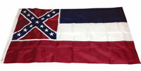 3x5 Embroidered State of Mississippi 220D Sewn Nylon Flag 3'x5' Grommets Banner