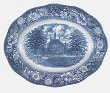 "Vtg Liberty Blue 12"" Serving Platter Staffordshire Dinnerware SEVERAL AVAIL"