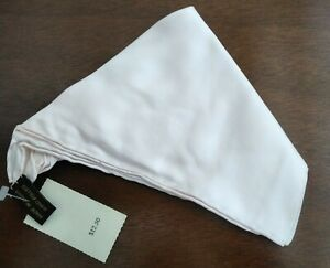 """Ashear 100% Silk Pink Hand Rolled Italy Pocket Square Vintage NWT 18""""x19"""""""