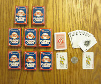 8 NEW DECKS OF MINI PLAYING CARDS MINITURE PLASTIC COATED TINY POKER CARD DECK