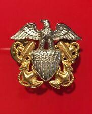 US Military Eagle Shield and Anchor Gold Filled Pin Vanguard Cap Pin Insignia