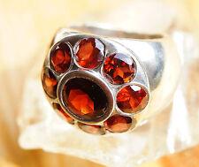 Extrem Massiv Silberring 53 Handarbeit Granat Breit Rot Ring Silber Schlicht