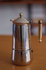 Rare Italian Tracanzan Stainless Stovetop Coffee Percolators, Mid Century, Retro