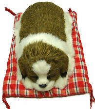 Large Sleeping Napping Lifelike Plush Dog Puppy on Pillow Collectable Toy SBG