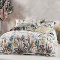 Linen House Habitation Teal Cover Set   100% Cotton   Queen King Super King