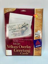 Avery Ink Jet Vellum Overlay Greeting Cards #3252 10 Cards & Envelopes (B3)