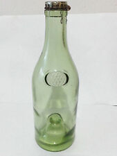 vintage martell cognac green glass empty bottle antique collectables