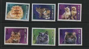 Thematic stamps MONGOLIA 1998 CATS SET OF 6 2660/5 mint