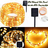 Solar Copper Wire 100-200 LED String Fairy Light Christmas Outdoor Warm White