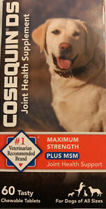 Cosequin DS Plus MSM Joint Health Supplement for Dogs Max Str60 Chewable Tablets