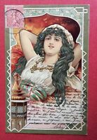 CPA. 1903. Jeune Femme Allongée. Orientalisme. Art Nouveau. Gaufrée. Embossed.