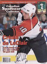 John LeClair Philadelphia Flyers Autographed Canadian Sportscard Mag W/COA '97 C