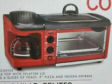 3 IN 1 RED COOKING CENTER NUTRITION FRYING, COFFEE MAKER, BAKE, GRILL JC PENNEY