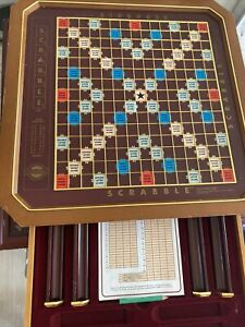 Vtg 1990 Franklin Scrabble The Collector's Edition Missing Letters