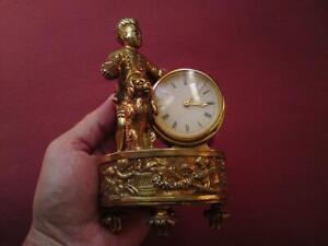 Swiss Gilt Brass Clock 8 Day 15 Jewels IMHOF Lever Escapement C.244 1392194-ARF