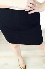 SPORTSCRAFT WOMENS SKIRT LINED STRAIGHT WOOL BLEND STRIPED Made In Au SZ12