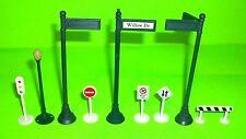 Department 56 Snow Village Accessory Street Sign LOT Stop Light Do Not Enter ETC
