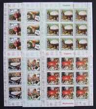 Romania 2008,Mushrooms,6x9 Stamps in 6 M/Sh.MNH, RO 017