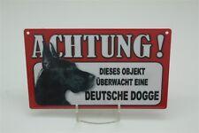 DEUTSCHE DOGGE - Tierwarnschild - VORSICHT Warnschild 20x12 cm Schild 18