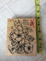 Botanical Morning Glory Vines and Buds K-2047 PSX Wood & Foam Rubber Stamp