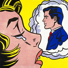 thinking of him  fine art print picture poster roy lichtenstein pop 60 x80 new