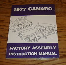 1977 Chevrolet Camaro Factory Assembly Instruction Manual 77 Chevy