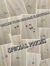 Floating Charms for Memory Locket Necklace Choose your Charms & Crystals Special